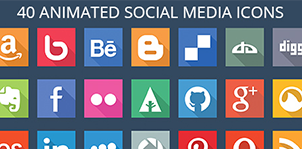 40 animated social media icons