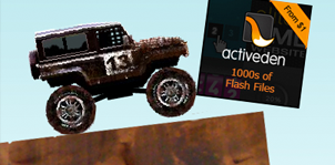 Off-Road Ralley Car Game with Banners