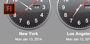 XML World Timezone Clocks