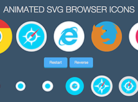 Animated SVG Browser Icons