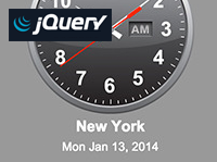 jQuery World Timezone Clocks
