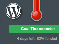 WordPress Fundraising Thermometer